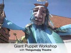 giant puppets workshop Thingumajig Theatre on Ærø Island, Denmark