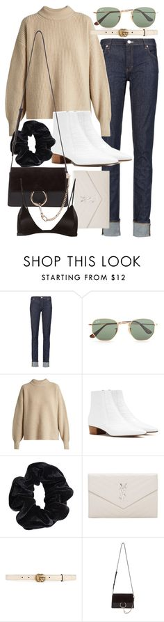 """""""Untitled #21061"""" by florencia95 ❤ liked on Polyvore featuring Acne Studios, Ray-Ban, The Row, American Apparel, Yves Saint Laurent, Gucci, Chloé and Fleur du Mal"""