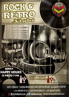 Music is one such thing that keeps our bond alive with the memories of the past and specially then when Caffe Mad House brings the best of Rock and Retro. #RocknRetro #FunkyTown