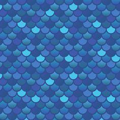Écailles de poisson sirène en tissu bleu - 1 yard (pré-commande)