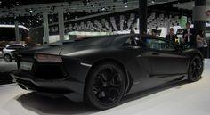 The Matte Black Lamborghini Aventador