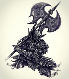 https://twitter.com/JohnDevlinArt Dark Souls Black Knight