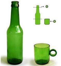 Cómo cortar una botella de vidrio con un hilo para hacer vasos - VeoVerde