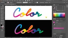 In this tutorial you'll see how to create colorful lettering in Adobe Illustrator. Web Design, Font Design, Graphic Design Tutorials, Graphic Design Typography, Graphic Design Illustration, Graphic Design Inspiration, Design Websites, Vector Design, Adobe Illustrator Tutorials