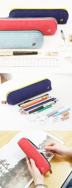I'm so into this fun two-tone Felt Pen Case! So spacious and durable to hold all my pens and pencils!