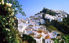 Eyes go Travel: Europe - Photos: Spain, Mountain village of Casares, Malaga 27 Places To Travel, Places To See, Europe Wallpaper, Travel Wallpaper, Wallpaper Pc, Flora Und Fauna, Andalucia Spain, Beaux Villages, Mountain Village