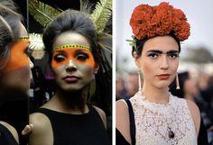 maquiagem índia