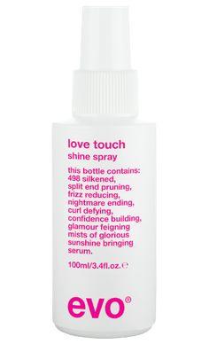 evo love touch shine spray 100ml   evo   evo hair