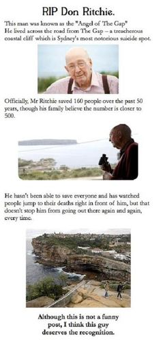 Things have a way of reoccurring. I just read about this man last week and then it popped up on Pintrest.