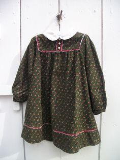 VINTAGE ADORABLE PRAIRIE COUNTRY GIRL CHRISTMAS DRESS SIZE 3 http://cgi.ebay.com/ws/eBayISAPI.dll?ViewItem&item=121195846656