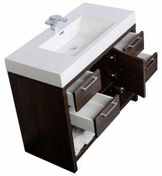 "LODI 40"" Modern Bathroom Vanity Grey Oak Finish (free shipping)"