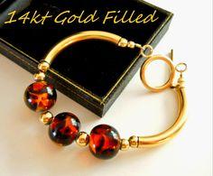 14kt Gold Filled Bracelet Vintage Art Glass by RenaissanceFair, $65.00