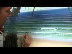Acrylic Painting Techniques - How To Paint Waves Part 1 - Shadows In Whitewash - YouTube