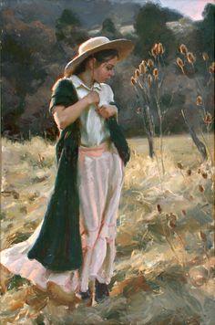 Michael Malm, Great American @Figurative Artist, Waterhouse Gallery, Figurative Painter, Original Oil, Tender Looks
