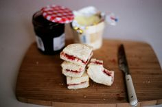 tea sandwiches done simply.  Great for little girls tea party.