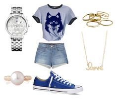 """#school"" by hellokitty379921 on Polyvore featuring J Brand, Converse, Sydney Evan, Tommy Hilfiger, Belpearl and Kendra Scott"