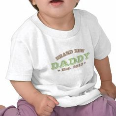 Gloednieuwe Papa Est. 2012 (Groen) Tshirt