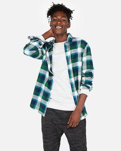 b43cafda61 Plaid Flannel Shirt Green Flannel Shirt