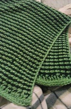 Two Color Easy Afghan Crochet Pattern