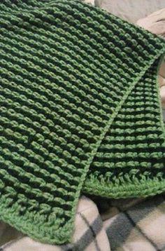 Two Color Easy Afghan Crochet Pattern | FaveCrafts.com