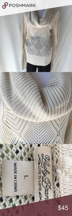 Lucky Brand Sweater Adorable light weight sweater from Lucky Brand. It has the most beautiful design through out! Lucky Brand Sweaters