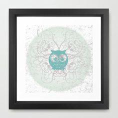 Owl Framed Art Print by Roxanne - $32.00