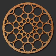 These dimensional laser cut art panels will add interest to any space or create a unique art piece to liven up your walls. This product is adapted from the circular glass dome, designed by Wright in 1943 for the S. C. Johnson Administration Building and is visible there today. The original is a complex series of ever-enlarging circles comprised of glass tube, reinforced by a pattern of circular steel bands.