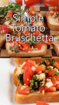 Appetizer Recipes Discover Easy Tomato Bruschetta Tomato Bruschetta with Garlic and Basil makes a quick appetizer or snack. This easy tomato bruschetta recipe is a healthy food option for families. Easy Bruschetta Recipe, Tomato Bruschetta, Macaroni Grill Bruschetta Recipe, Bruschetta With Mozzarella Recipe, How To Make Bruschetta, Quick Appetizers, Appetizer Recipes, Party Appetizers, Italian Food Appetizers