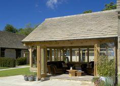 Oak framed Garden Room with Bi-folding doors