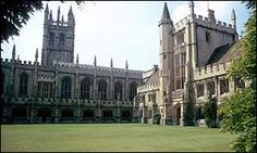 Summer study at  Magdalen College, Oxford University in England