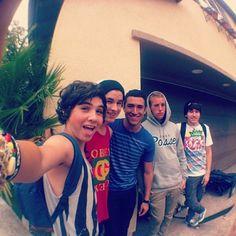 Sam, Kian, Ricardo, Corey, and JC!
