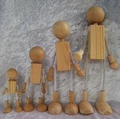 Dollhouse Doll Bodies Heads, bodies and feet are hardwood, the ...