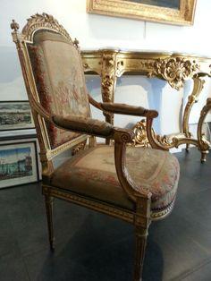 Fauteuil Bois Doré Style Louis XVI Fin XIXe, Alberelli Jean Antiquités, Proantic