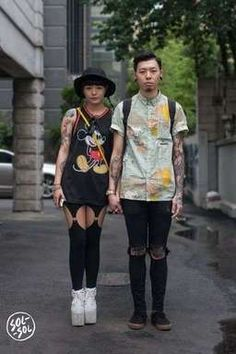 Korean Fashion Picks of the Week: Everything is Better in Twos Seoul Fashion, Harajuku Fashion, Korean Fashion, Mens Fashion, Fashion Couple, Couple Posing, Personal Style, Girly, Hipster