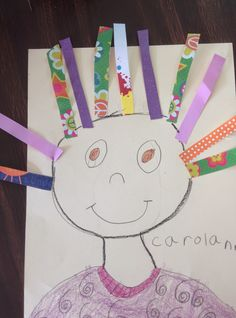 """The August art session with my little """"firsties"""" was a HUGE success. We created """"Wild About 1st Grade"""" self-portraits. They turned out s..."""