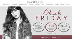 BLACK FRIDAY: Get 50% Off Sitewide TwinkleDeals.com is offering Black Friday Sale: get 50% discount on all items. Snap up now! This offer is valid for limited time. For more Twinkle Deals Coupon Codes visit: http://www.couponcutcode.com/stores/twinkledeals/