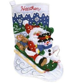 Janlynn Christmas Fun Stocking Felt Applique Kit at Joann.com