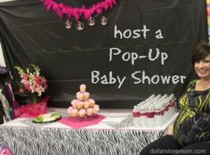 """host a surprise party anywhere with these ideas for a """"Pop-Up"""" shower, with dollar store boa garland tutorial"""