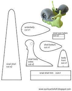 Quirky Artist Loft: Free Pattern: Snail