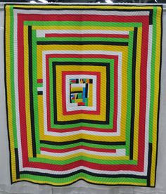 """Gee's Bend quilt: """"Olympic Housetop"""" by Mary Ann Pettway Photo by Cat and Vee. Stella Mae, Gees Bend Quilts, Clock Shop, American Quilt, String Quilts, Black Quilt, Metal Art, Art For Sale"""