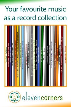 A custom piece of wall art showing your choice of music, all shown as a row of LP vinyl records on a shelf. A unique and personal gift for music lovers - music home decor gift idea. #elevencorners #personalisedprint #musiclover #musicart #wallart #giftideas Personalised Prints, Personalized Wall Art, Gift For Music Lover, Music Lovers, Lp Vinyl, Vinyl Records, Family Wall Art, Music Artwork, Record Collection