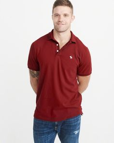 61abff4b37e6a A amp F Men s Stretch Icon Polo Mens Tops