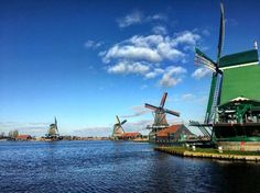 Zaanse Schans is a beautiful village in the netherlands 30 minutes away from amsterdam