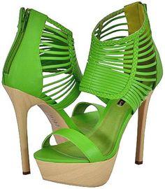 Shoe Republic La Julius Green Women Platform Sandals