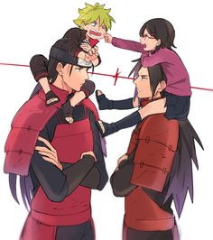 Hashirama, Boruto, Sarada y Madara || MADARA AND SARADA by yokino500 on DeviantArt