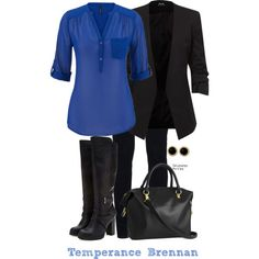 Bones: Temperence Brennan by inspiredattire on Polyvore featuring J Brand…