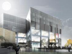 OMA Koolhaas  the exhibition hall . kuwait