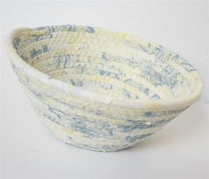 Small Pale Yellow With a Hint of Blue Bowl  Take by PiecefulDesign, $7.50