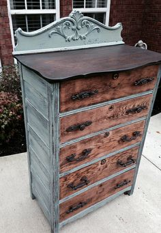 I like the way this dresser is refinished. I have one very similar.