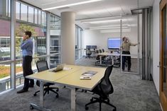 Bernhardt Design's Traction table at American AgCredit Headquarters by TLCD Architecture